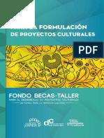 Guía para la formulación de proyectos culturales. MCyJ - CR.