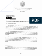 Cheryl Brown FPPC Letter