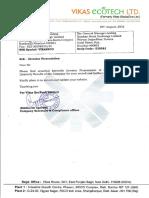 Vikas Ecotech doc no 104132