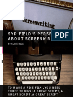 Syd Field's Perspective About Screenwriting