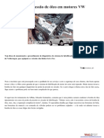 Diagnóstico de Pressão de Óleo Em Motores VW EA111
