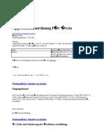 ÄApprO 2002 - Approbationsordnung Für Ärzte