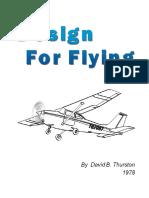 Design for Flying - David B Thurston - 1978