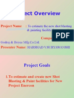 Project To estimate the new shot blasting & painting facility for new project