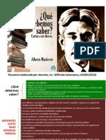 Carta a Un Obrero. Resumen Ensayo Alberto Masferrer. Resumen Ensayo Alberto Masferrer