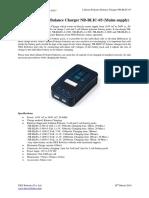 Lithium Polymer Balance Charger NR-BLIC-03, NEX Robotics
