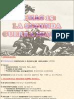 15.- SEGUNDA GUERRA MUNDIAL