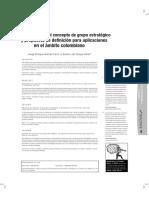 Revisión del concepto de grupo estratégico  y propuesta de definición para aplicaciones  en el ámbito colombiano