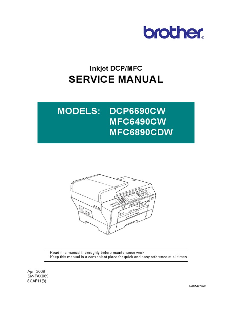 MFC-6690CW Service Manual | Image Scanner | Electrical Connector