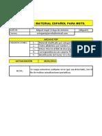 Listado de Material Español 26 Enero 2012