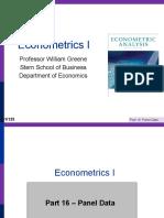 Econometrics I 16