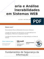 Seminário sobre Auditoria e Análise de Vulnerabilidades em Sistemas WEB