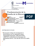 Presentacion Fundam. de La Filoso. de La Educa. Terminada
