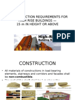 Fire Protection Requirements for High Rise Building 15 m in Height or Above