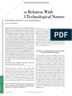 The Human Relation With Nature and Technological Nature