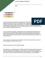 Monografico Introduccion de Las Tecnologias en La Educacion