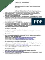 Lista Geral de Requisitos