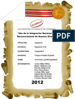 Informe - Topografia I