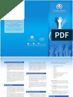 Brochure sobre el 4to. Premio Voluntariado Solidario