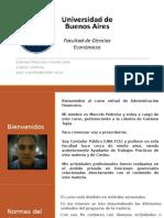 Presentación y Normas Del Curso