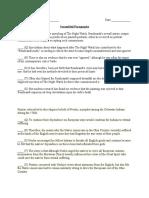 SHSAT Scrambled Paragraphs Practice