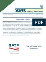 ATF Nitrocellulose Reclassification - Update Aug 31st 2016