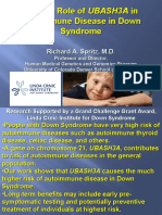 "Richard Spritz - ""Genetic Role of UBASH3A in Autoimmune Disease in Down Syndrome"""