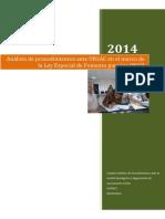 Analisis de Procedimientos Ante URSAC en El Marco de La Ley Especial de Fomento Para Las ONGD