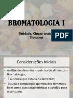 BROMATOLOGIA I - Análise de Alimentos