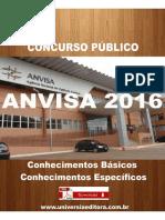 Apostila Anvisa 2016 Tecnico Administrativo