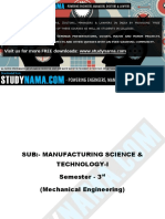 Me - Manufacturing Science & Technology-i