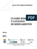 Cuadro Basico Med. Sector Salud 2011