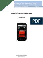Mobileye Smartphone App User Guide v0.1