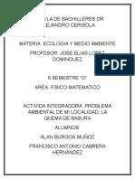 ACTIVIDAD INTEGRADORA - ECOLOGIA