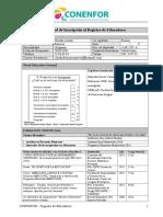 Formulario Registro Educadores - Vig Julio 2013