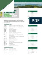 15-922 University Calendar - Fall2016Spring2017 Update 6-16