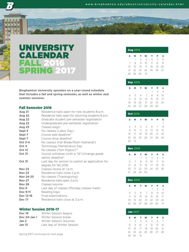 15 922 University Calendar   Fall2016Spring2017 Update 6 16
