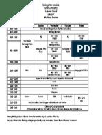 Kindergarten Schedule 2016-2017