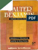 Benjamin Walter Obras Escolhidas 1- TEXTO COMPLETO