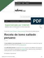 Receta de Lomo Saltado Peruano - Comedera