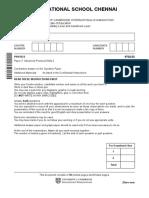 Cambridge as Level Physics Paper 32 Test