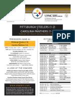 Pittsburgh Steelers At Carolina Panthers (Sept. 1)