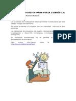 Presentación Del Trabajo Escrito en Feria Científica