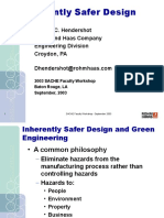 Dennis Hendershot SACHE Inherently Safer Design