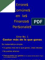 Errores de las Finanzas personales