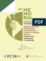 Memoria Del Primer Encuentro Internacional Sobre Diálogo - OnDS