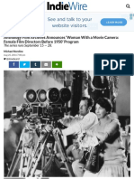 Anthology Film Archives Announces 'Woman With a Movie Camera' Program
