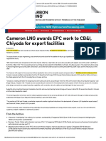 Cameroon LNG awards EPC work to CB&I, Chiyoda for export facilities.pdf
