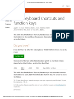 Excel Keyboard Shortcuts and Function Keys - Office Support