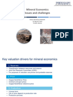 Mineral Economics - Issues and Challenges - Hand Out
